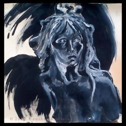 De Sfinx (studie naar Julien Dillens' 'Het Raadsel') (2013), Gouache on paper
