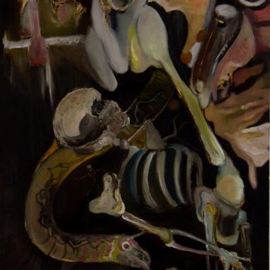 Twilight Horses (2013) Oil on panel