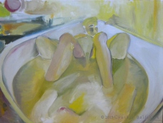Bathtub (2013) Oil on canvas