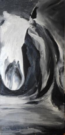 Que-dites-Vous? (2012) Oil on panel