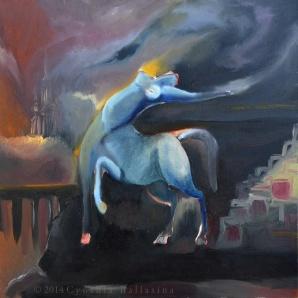 Centaurea (2014) Oil on canvas