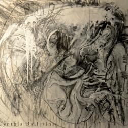 Shukushu Goukan (2015) posterpaint&charcoal