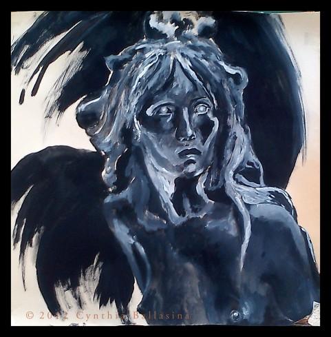 De Sfinx (studie naar Julien Dillens 'Het Raadsel') (2012) Gouache on paper