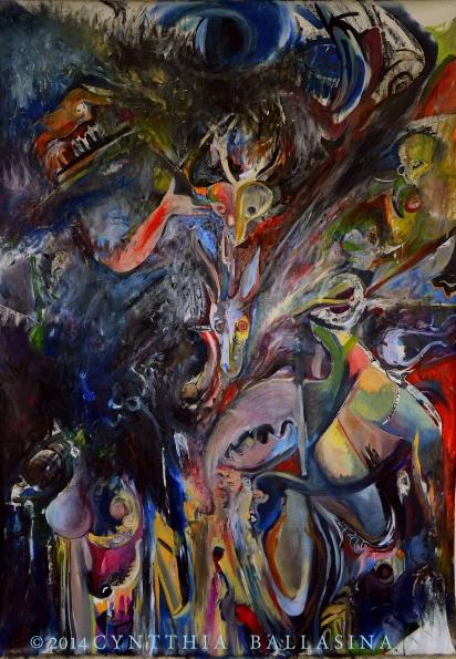 Matrix ex Machina (2014) Oil on canvas