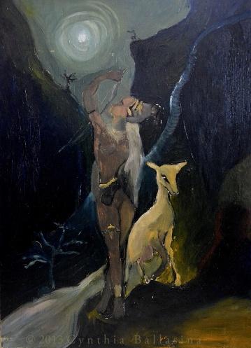 Artemis's Nightwalk (2013) Oil on panel
