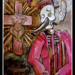 De Venus van Willen&Dorst (2014) gouache&charcoal on panel