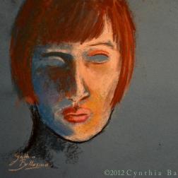 Sarah (2012) pastel on paper