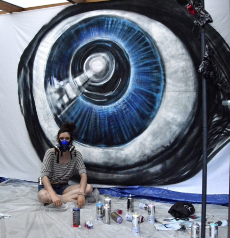 Making of the eye ©2015 Cynthia Ballasina