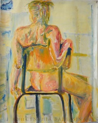 A. and a chair (2011) Oil on canvas