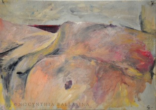 Seascape of a Man (2012) Oil on paper