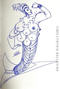 Chiquita Banana (2015) pen on paper