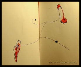 Chemical Bonding (2012) Pen/candle-grease on paper