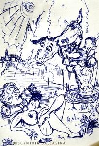De Zonne-Aanbidders (2015) pen on paper