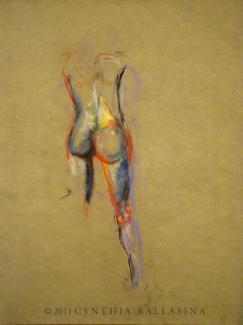 Female Lines (2011) pastel on paper