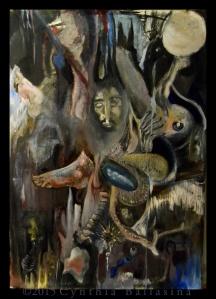 Seaman's Grave (2015) Oil on paper
