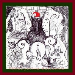 Monsieur Le Chien et Sa Femme fêtent Noël (2015) pen on paper