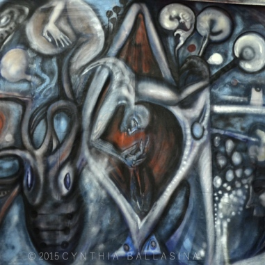 Cetus (2015) spraypaint/oil on canvas