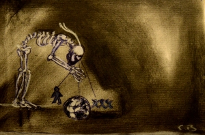 Le Regard Macabre (2013) Mixed media on paper