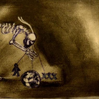 Le Regard Macabre (2013) Mixed media on paper