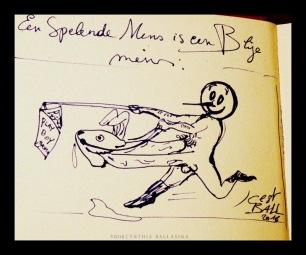 Een Spelende Mens is een Blije Mens (2016) pen on paper