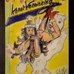 KerstVersiering (2016) crayon & waxcrayons on paper