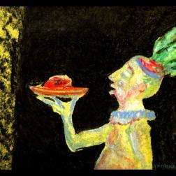 Dinner is serverd (2016) pastel on paper