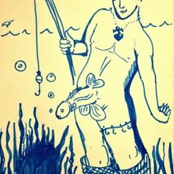 FishStick (2017) pen on paper