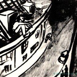 La gouttière, ink on paper, GEBROED 2018