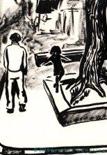 Libra, ink on paper, GEBROED 2018