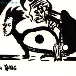 Ying-Yang, ink on paper, Gebroed 2018