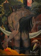 Blood Moon (2019) oil on canvas