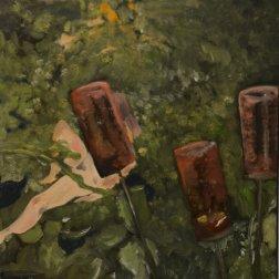 Femme au jardin (2019) oil on canvas