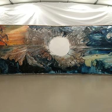 Kern (2018) Oil on canvas, 11,50 m x 2,10 m