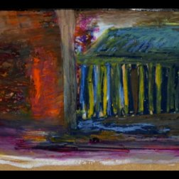 The Catacombes (2014) pastel on panel